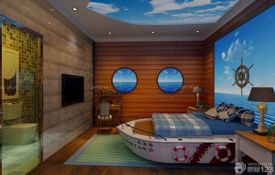 地中海风格酒店房间装修设计图