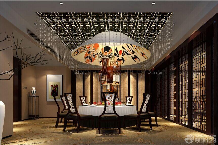 最新中式风格饭店装修实景图