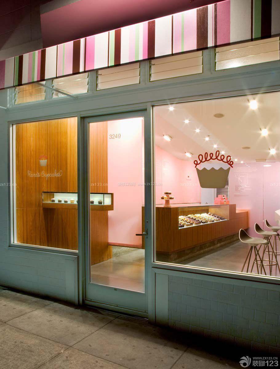 蛋糕店设计图 玻璃门