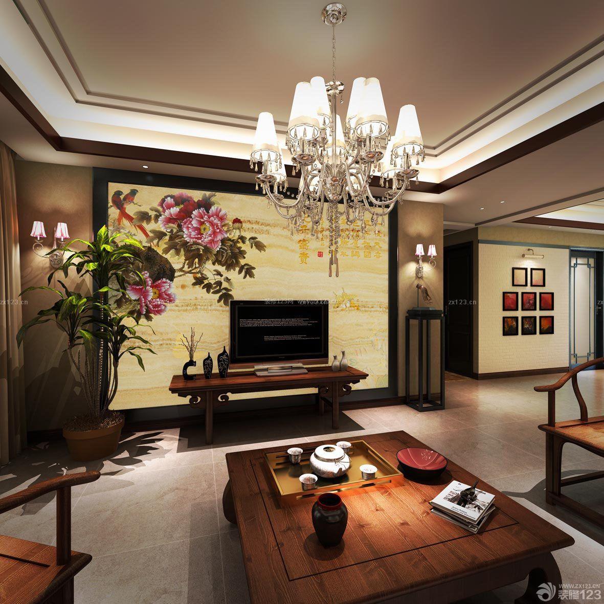 客厅石材背景墙_中式装修的石材背景,新中式石材背景墙,新中式石材背景_大山谷图库