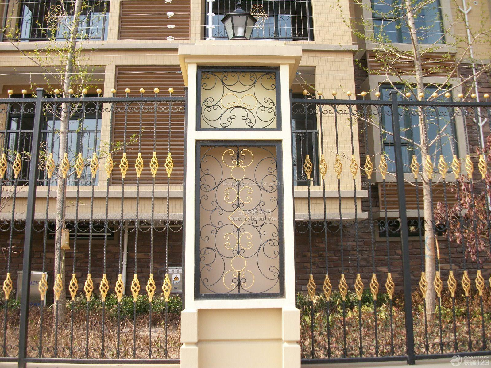 欧式住宅铁艺围墙装修效果图