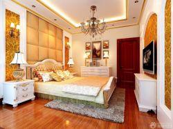 2015房屋客厅金色壁纸装修设计图赏析