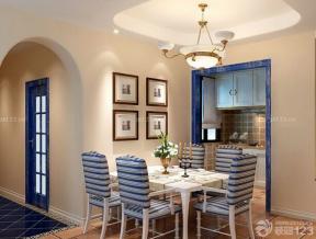 地中海風格 藍色門框
