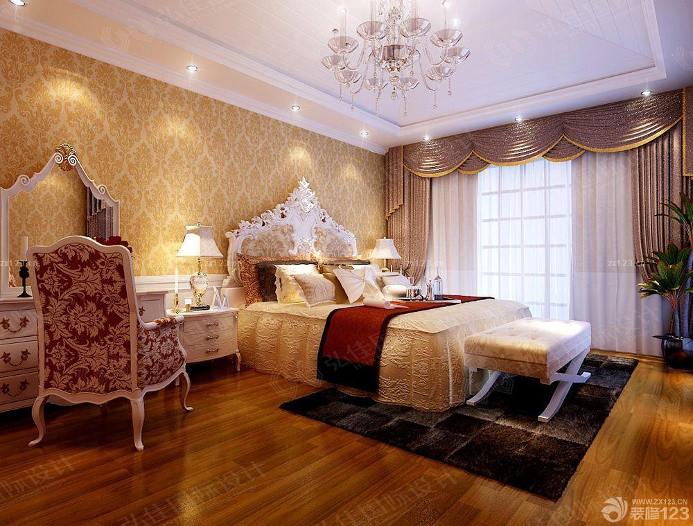 家庭卧室拼花墙面装修设计效果图大全2015