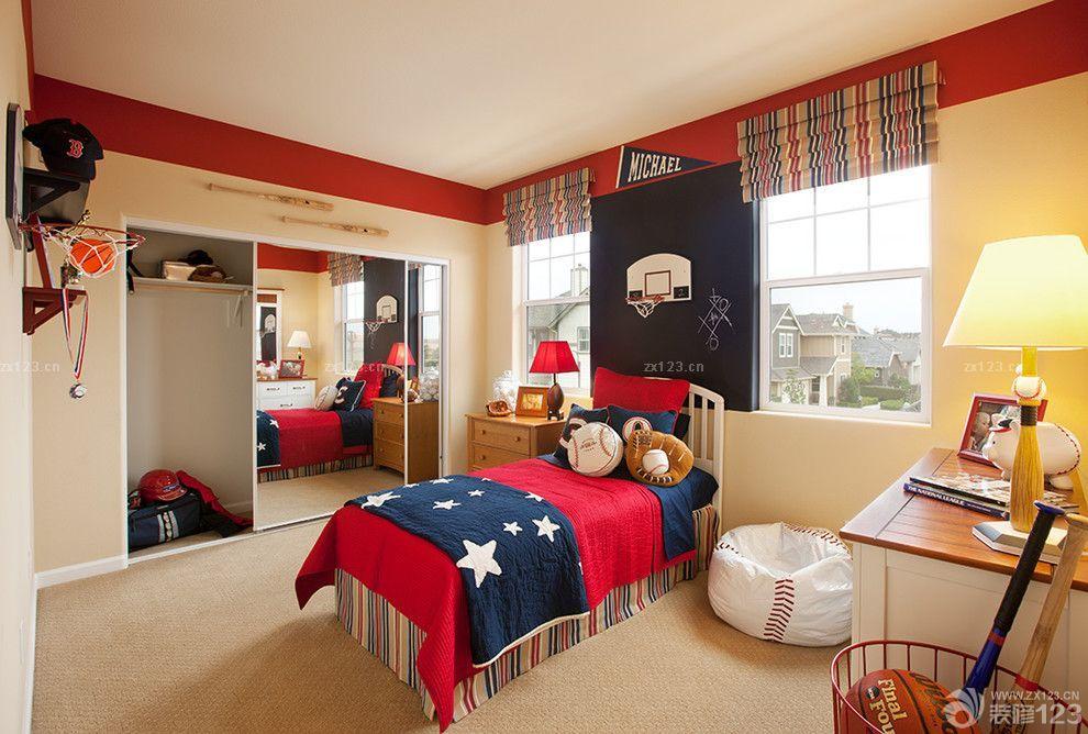 2015美式风格男生卧室装修设计图赏析