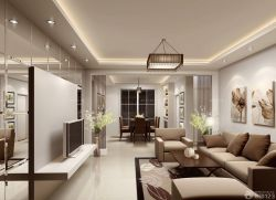 現代客廳白色踢腳線設計圖片