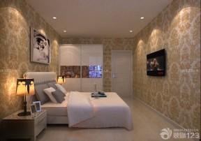 长方形卧室 压纹壁纸