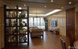 中式風格客廳裝修博古架圖片