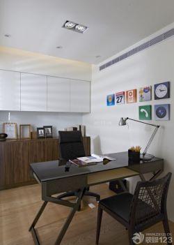 簡約風格書房書桌設計圖
