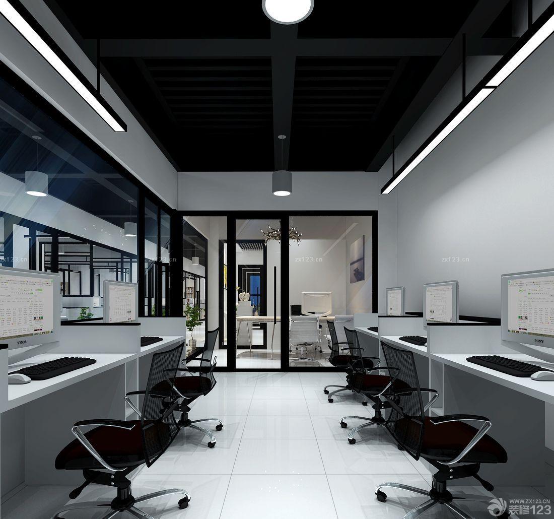办公室生态木吊顶装修实景图