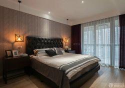 三室兩廳臥室暗花壁紙設計圖