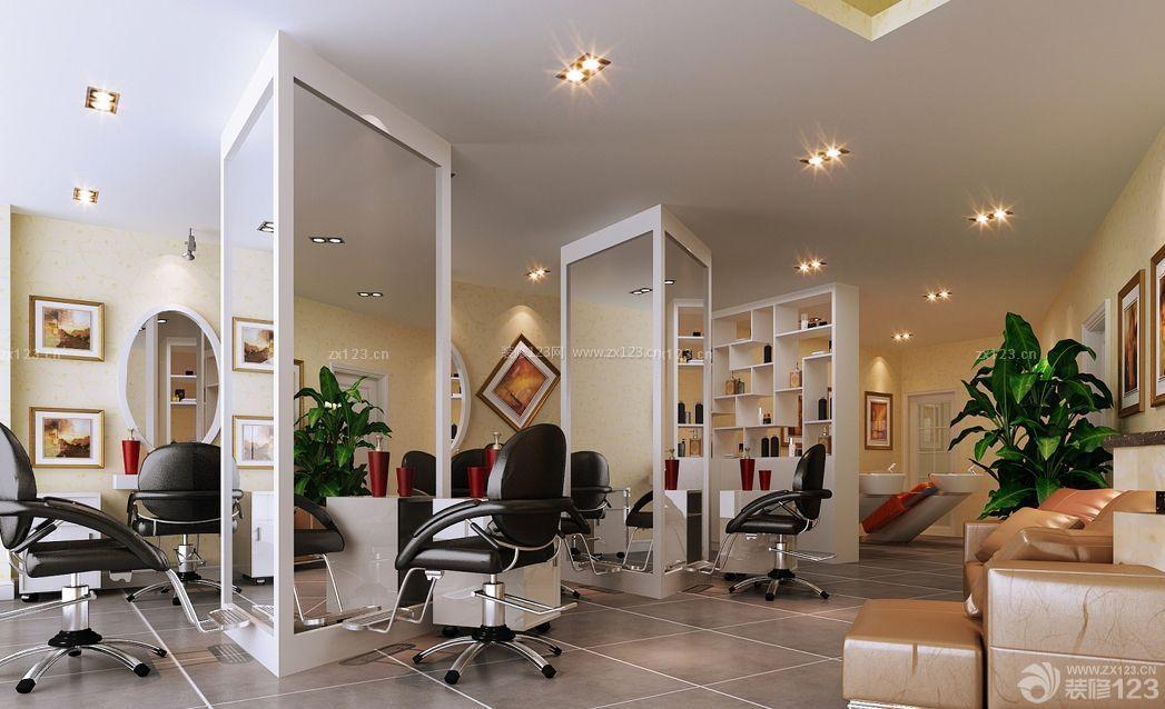 现代风格50平米美发店装修案例