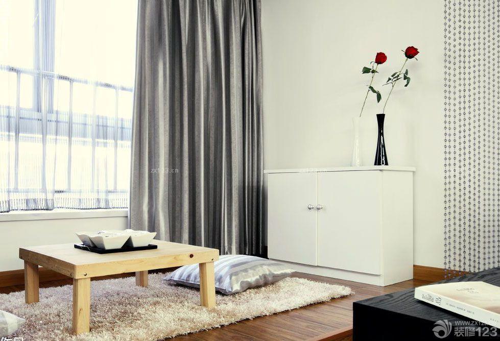 室内阳台榻榻米坐垫设计效果图_装修123效果图