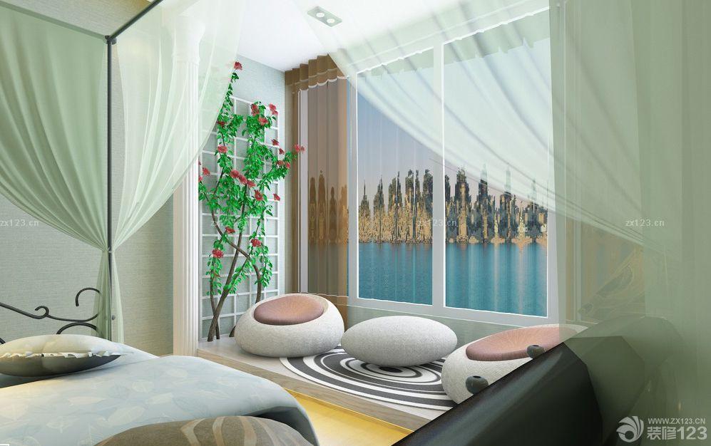 室内阳台榻榻米坐垫设计效果图