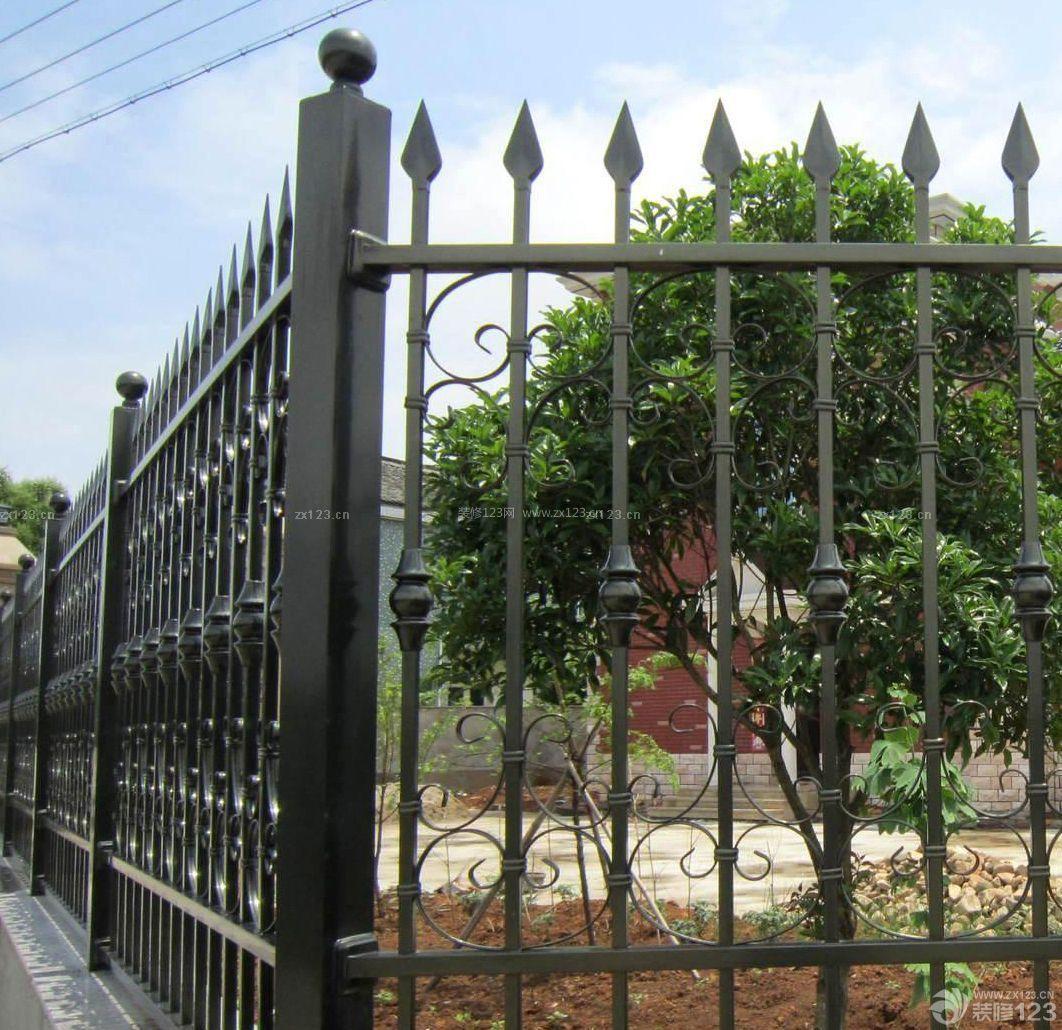 别墅区围墙护栏造型设计图