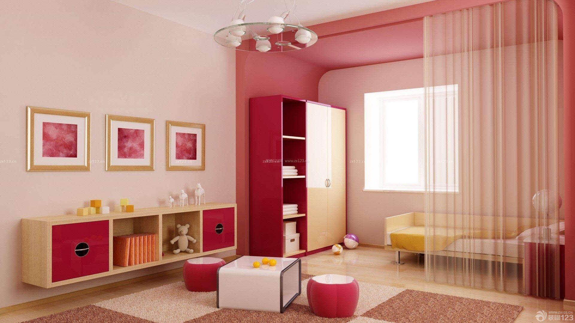 现代简约家装粉色墙面装修效果图