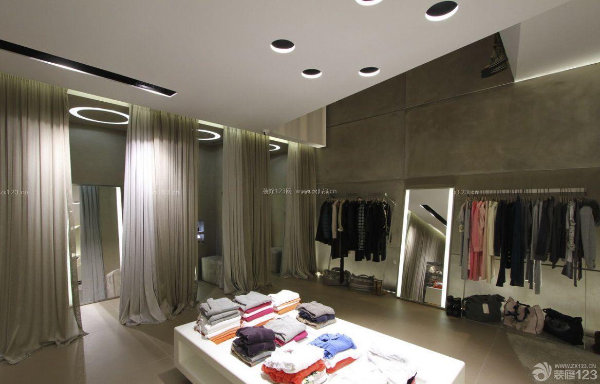 服装店吊顶造型装修设计图片_装修123效果图
