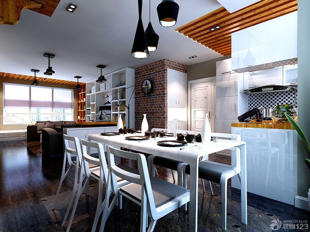 厨房餐厅一体异形餐桌设计图