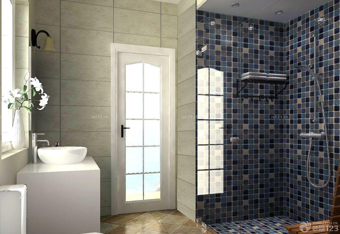 浴室马赛克背景墙装修效果图大全2014图片