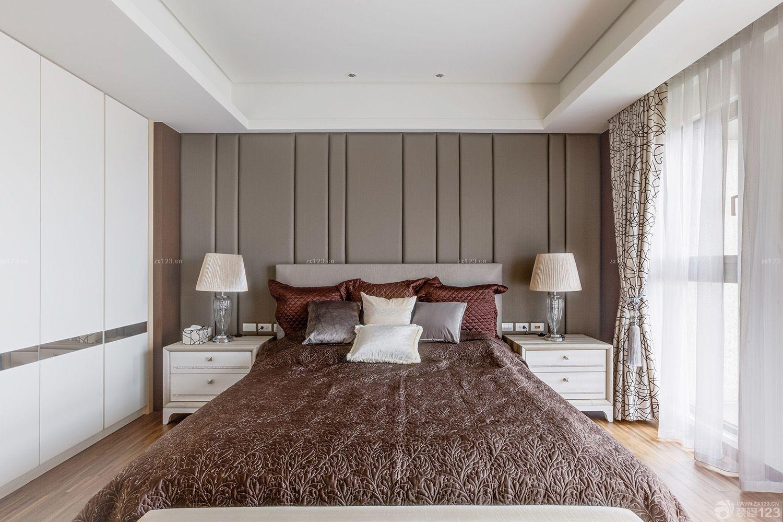 新房卧室床头背景墙装修图片欣赏