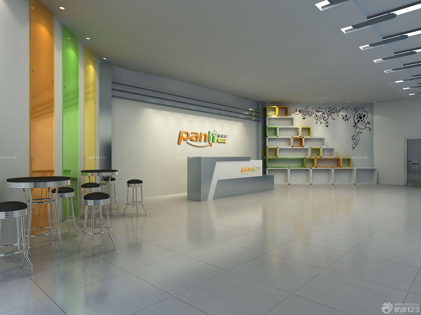 公司前台形象墙装修设计案例