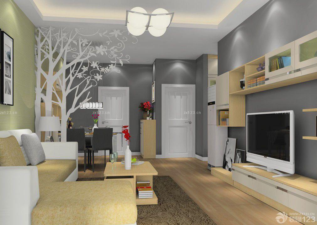 50平米小户型客厅餐厅厨房一体设计图片