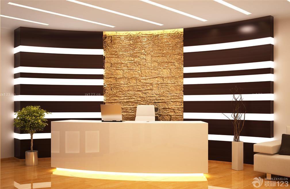 创意浮雕公司前台背景墙设计效果图欣赏