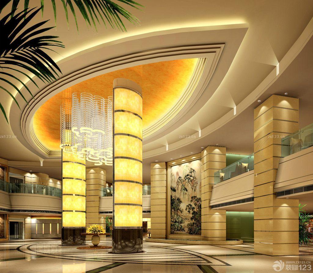 奢华酒店大堂设计酒店吊顶设计案例图片