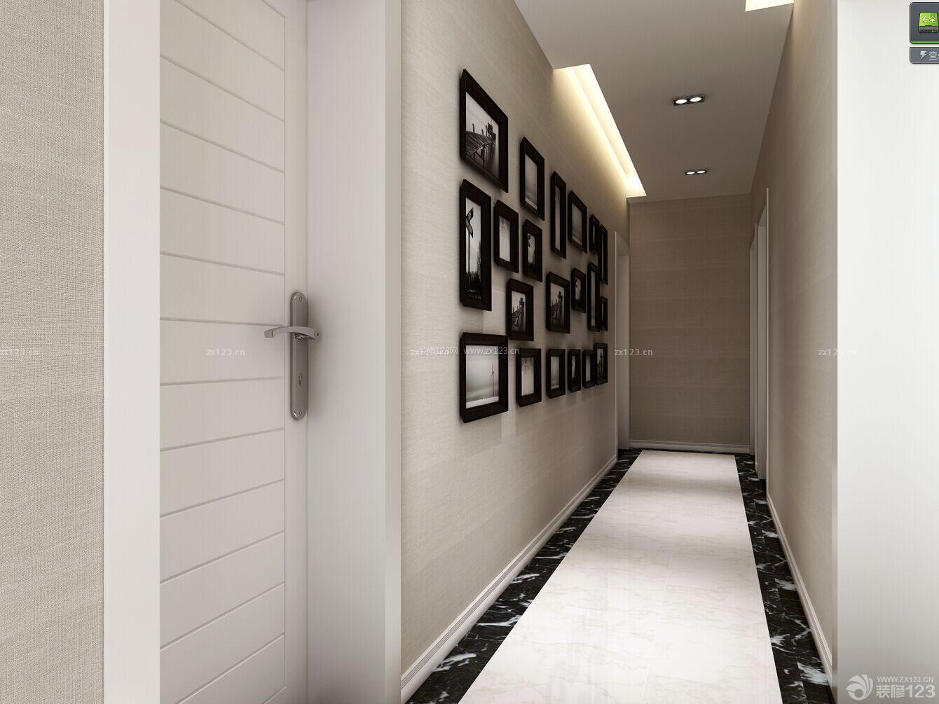 走廊玄关创意照片墙设计图图片