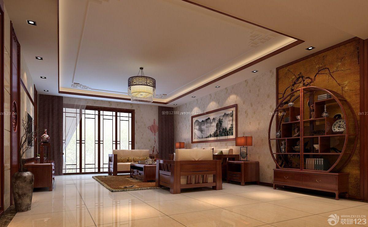 古典客厅瓷砖地脚线设计效果图