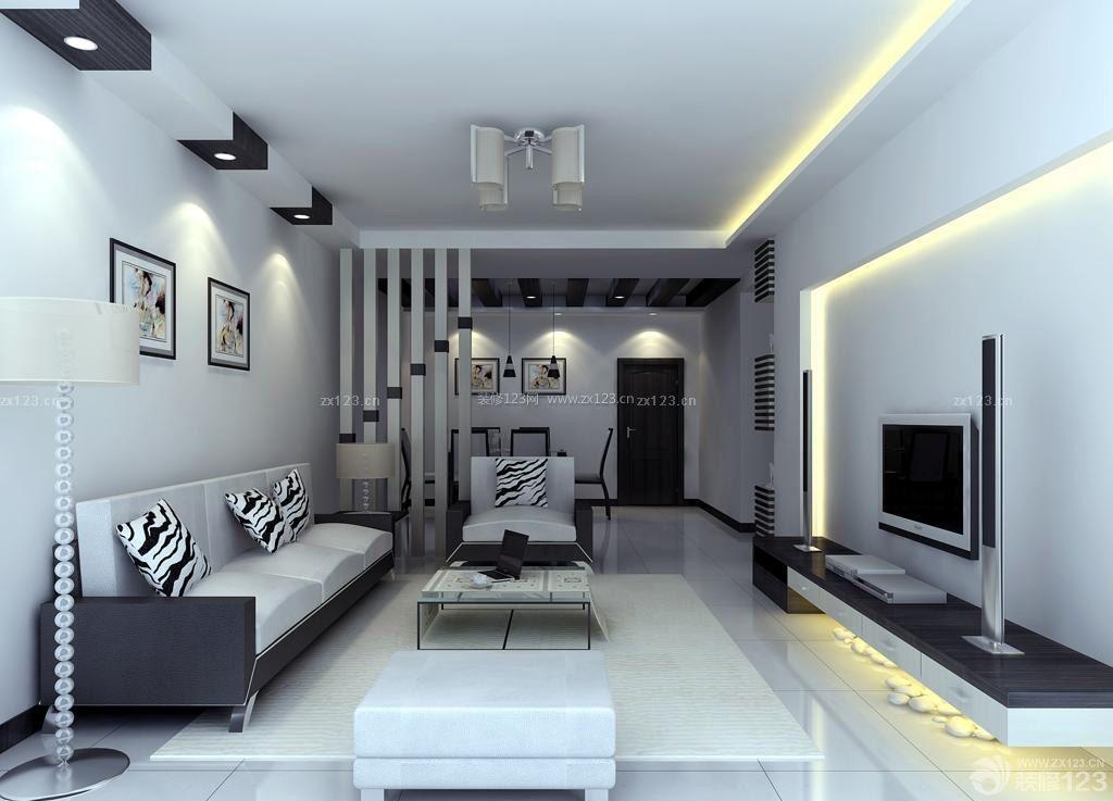 长方形客厅瓷砖地脚线装修效果图