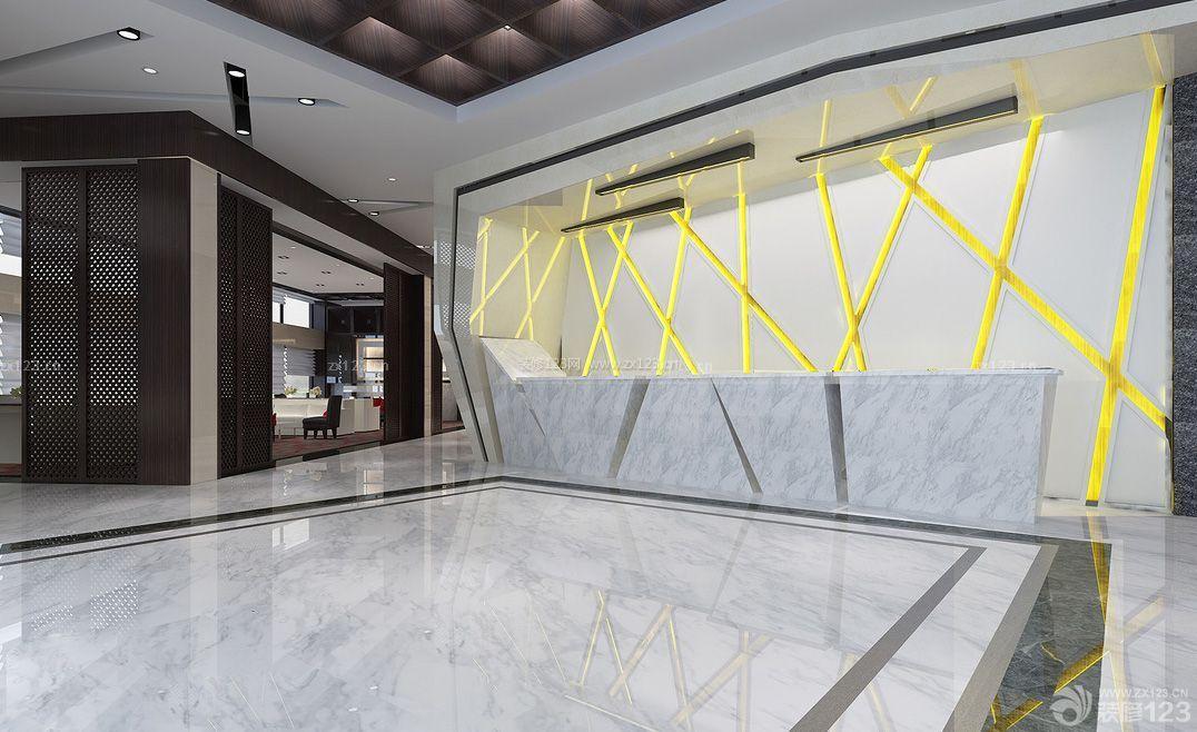售楼部背景墙造型设计效果图_装修123效果图