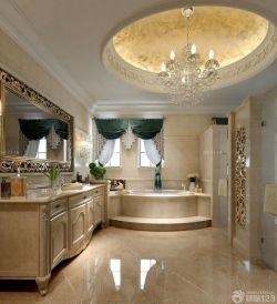 三室一廳兩衛美式鄉村風格衛浴設計圖片