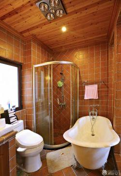 三室兩廳美式鄉村風格衛浴設計效果圖