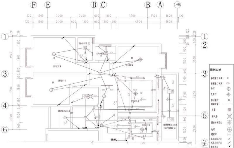 房屋水电改造图图纸_装修123效果图