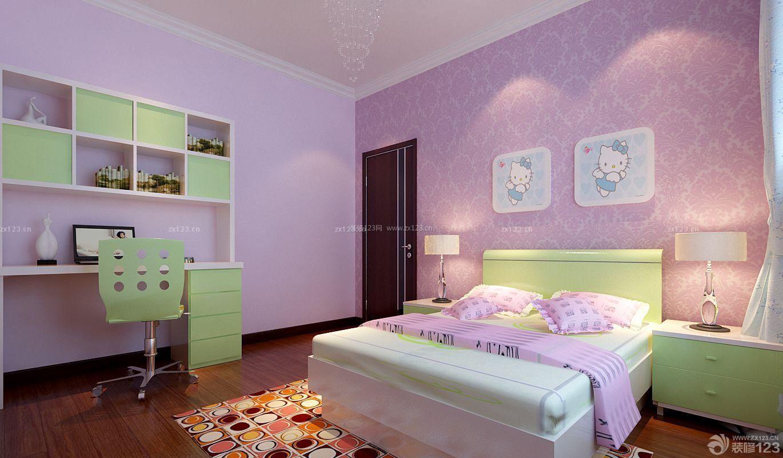 温馨可爱二室二厅儿童卧室装修样板房