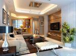 50平方一室一厅小户型客厅设计效果图_装修123效果图