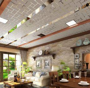 客廳容聲集成吊頂pvc扣板吊頂樣板 -每日推薦