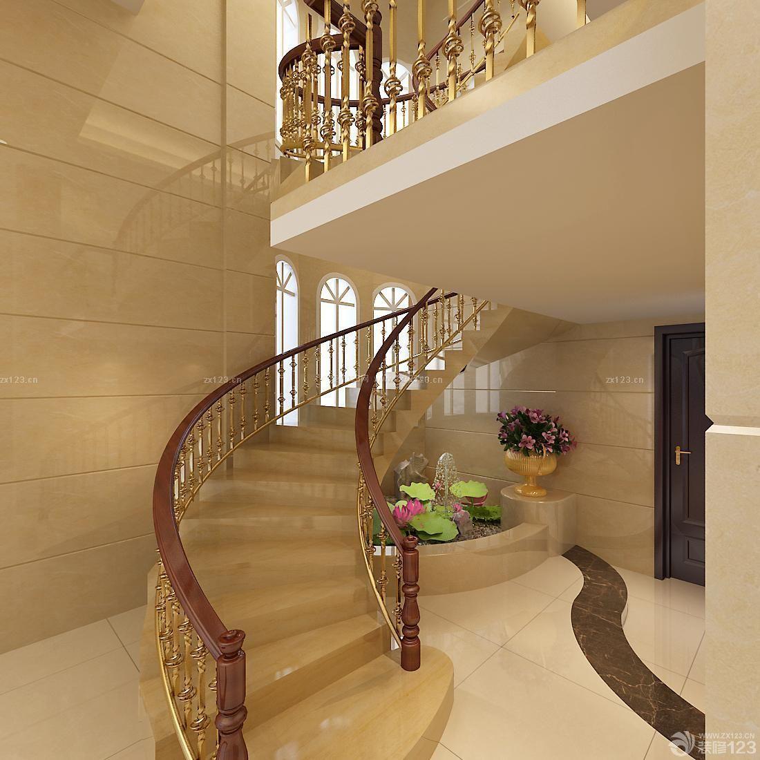 小型别墅旋转楼梯设计图