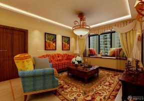 现代美式 美式现代客厅