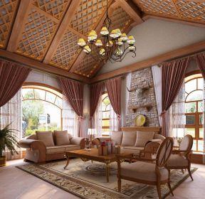 斜頂客廳吊頂設計樣板參考-每日推薦