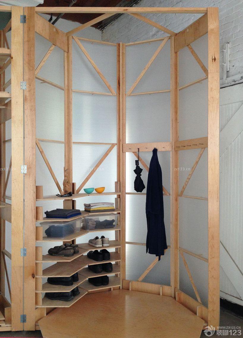 小型衣帽间衣柜玻璃门效果图片