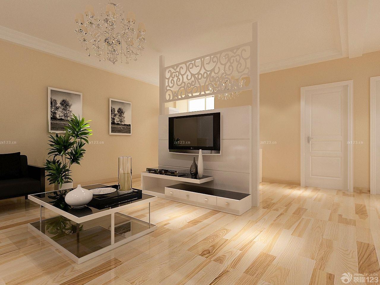 现代简约风格家装原木地板装修实景图