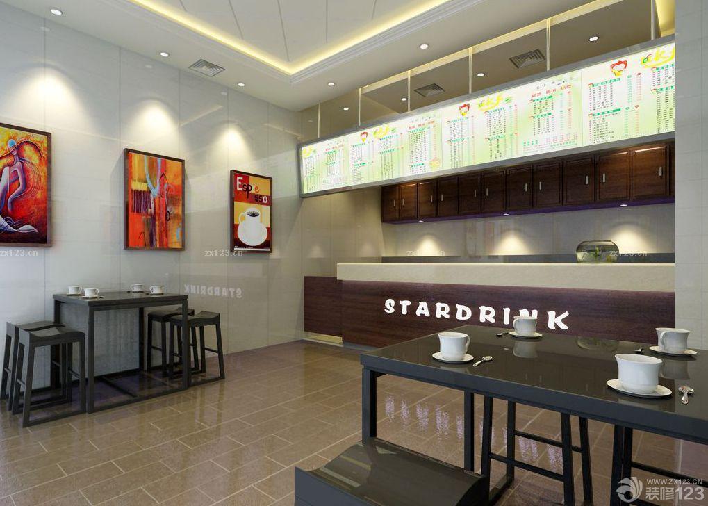 奶茶店装修风格墙壁装饰效果图欣赏