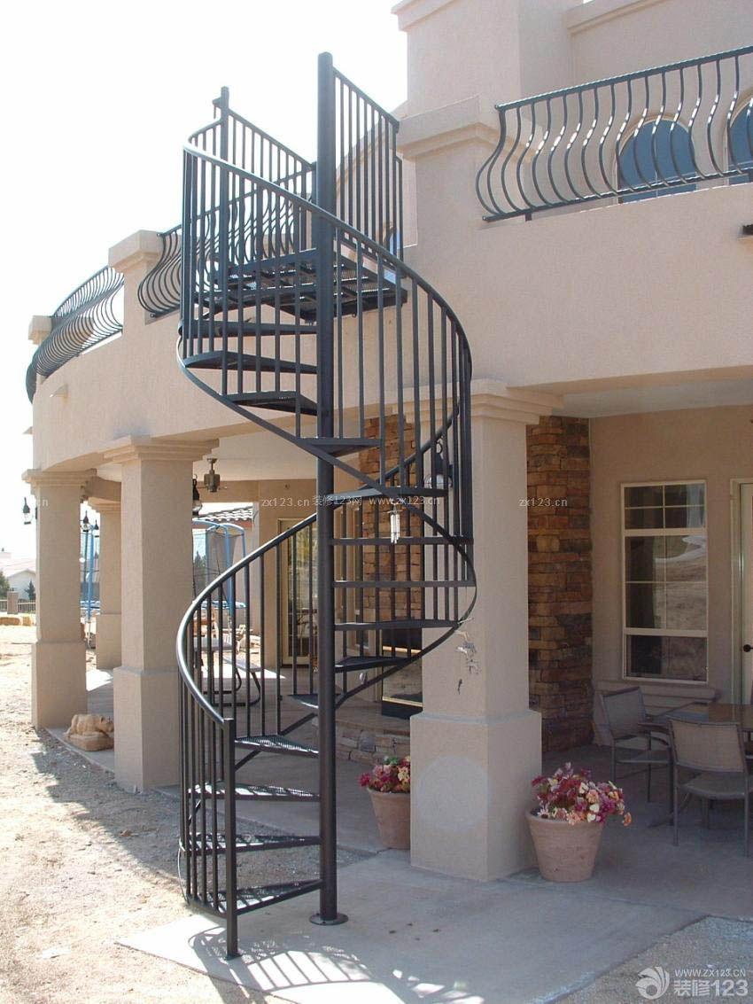2015室外楼梯旋转设计效果图大全赏析