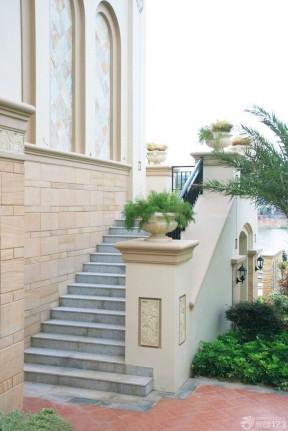 015最新豪华别墅室外楼梯装修设计效果图欣赏-室外楼梯效果图