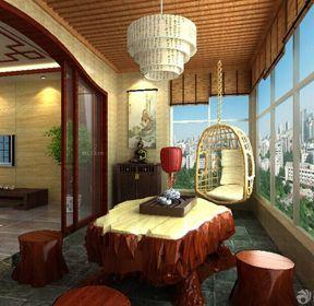 家庭阳台休闲区设计图-每日推荐