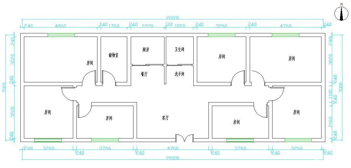 农村三间平房设计图纸-农村三层房屋设计图