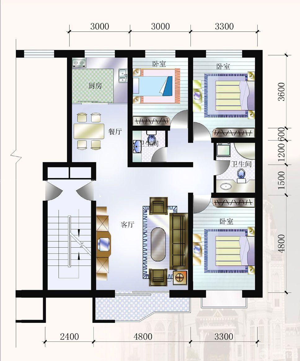 农村二层房设计图_农村4间二层设计图_农村2015二层设