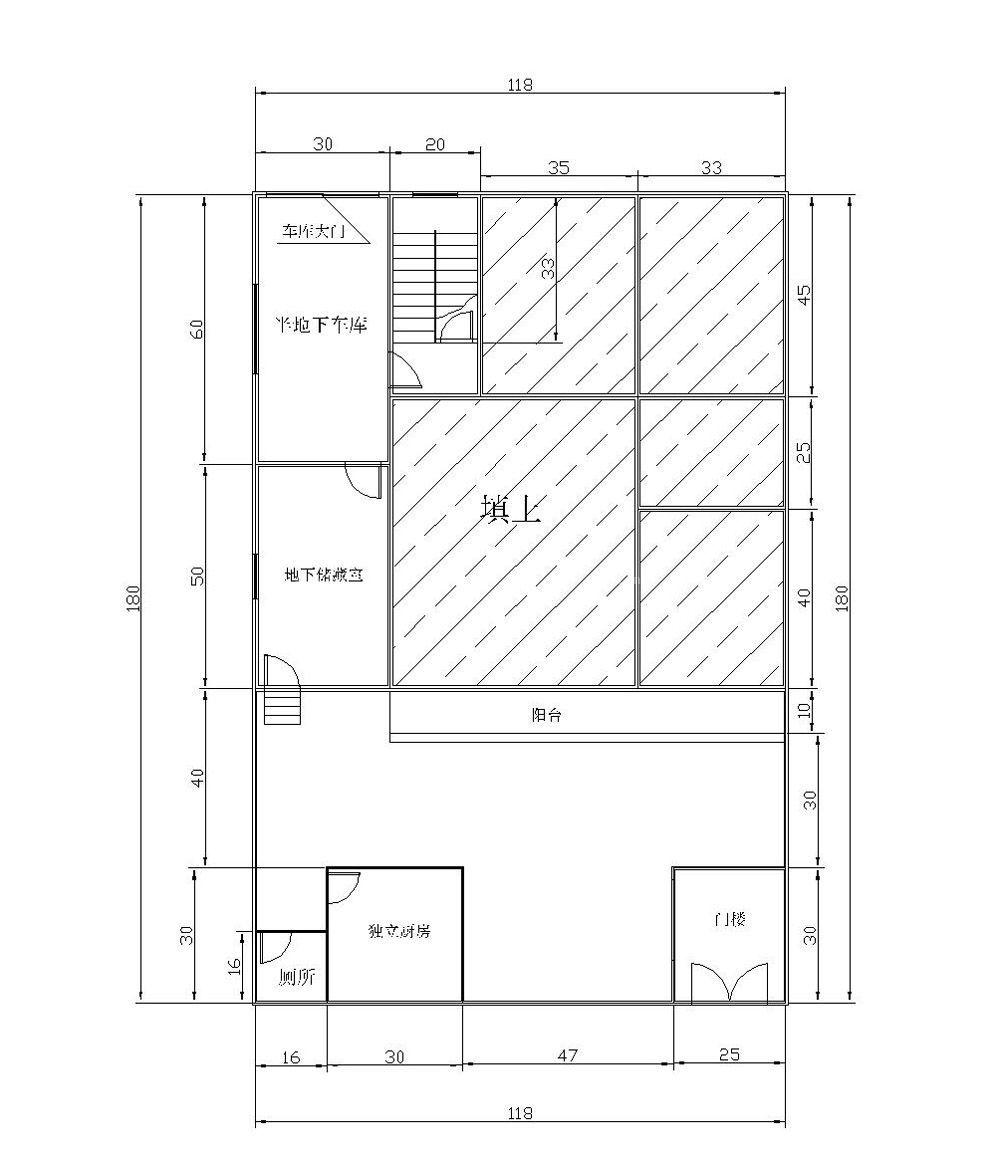 农村120一层平房设计图展示